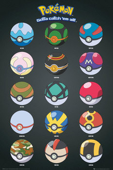 Juliste Pokémon - Pokeballs