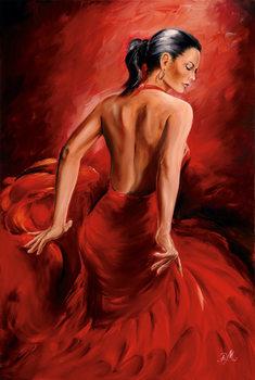 Juliste R. Magrini Flamenco - Red Dancer
