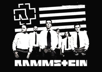Juliste  Rammstein - logo stripes