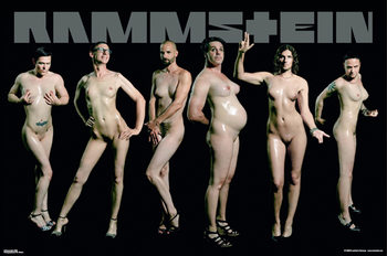 Juliste  Rammstein – naked