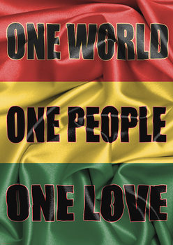 Juliste Rasta Flag - One Love