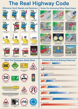 Juliste Real highway code