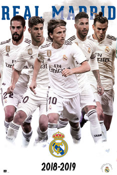 Juliste Real Madrid 2018/2019 - Grupo
