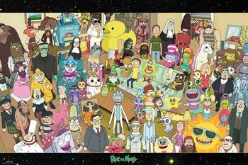 Juliste  Rick and Morty - Cast