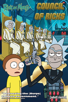 Juliste  Rick and Morty - Council Of Ricks