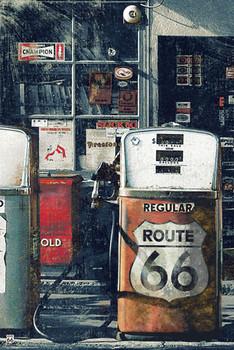 Juliste Route 66 - gas station