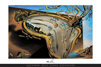 Juliste Salvador Dali - Clock Explosion