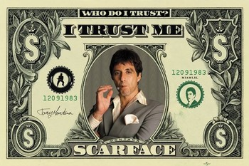 Juliste  SCARFACE - dollar