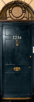 Juliste Sherlock - 221b Door