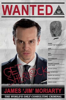 Juliste Sherlock - Moriarty Wanted