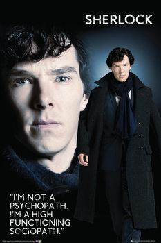 Juliste Sherlock - Sociopat