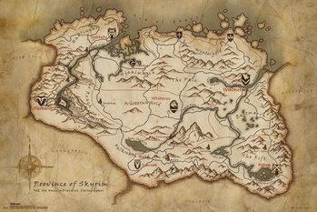 Juliste Skyrim - Map