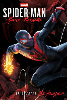 Juliste Spider-Man Miles Morales - Cybernetic Swing