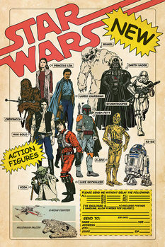 Juliste Star Wars - Action Figures