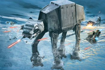 Juliste Star Wars - AT-AT Attack