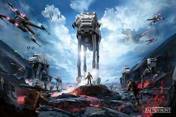 Juliste Star Wars Battlefront - War Zone