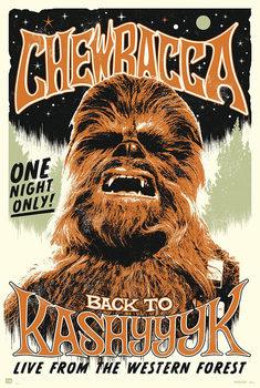 Juliste Star Wars -  Chewbacc back to Kashyyyk