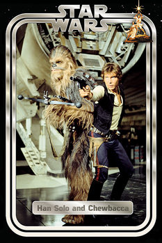 Juliste  Star Wars Classic - Han and Chewie Retro