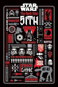 Juliste Star Wars -  Dark Side Icongraphic