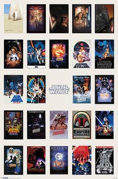 Juliste  Star Wars - One Sheet Collage