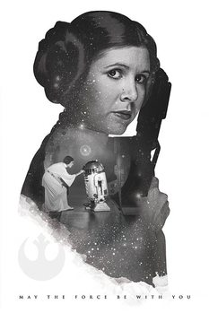 Juliste Star Wars - Princess Leia May The Force Be With You