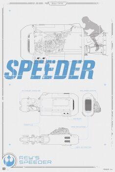Juliste Star Wars - Rey's Speeder