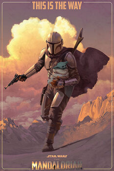 Juliste Star Wars: The Mandalorian - On The Run