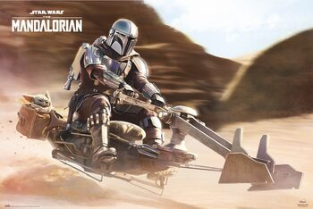 Juliste Star Wars: The Mandalorian - Speeder Bike