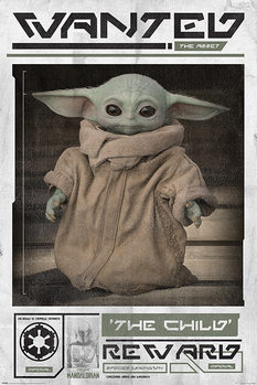 Juliste Star Wars: The Mandalorian - Wanted The Child (Baby Yoda)