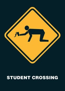 Juliste Student crossing