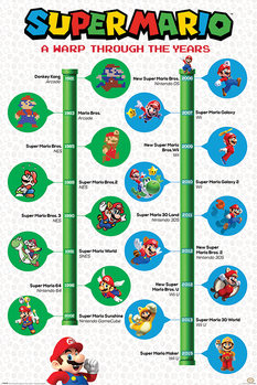 Juliste  Super Mario - A Warp Through The Years