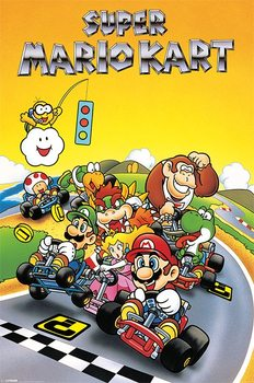 Juliste Super Mario Kart - Retro