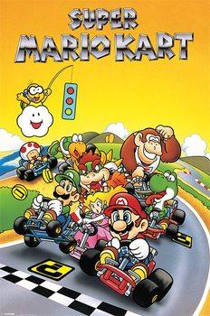 Juliste Super Mario Kart - Retro