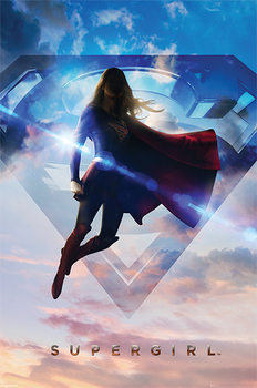 Juliste Supergirl - Clouds