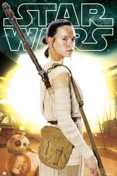 Juliste  Tähtien sota: Episodi VII - Rey BB-8