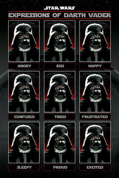 Juliste  Tähtien sota - Expressions of Darth Vader