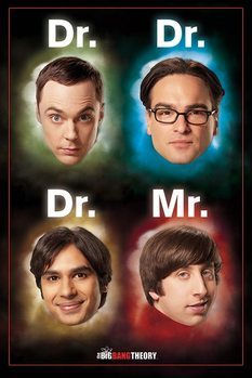 Juliste  THE BIG BANG THEORY - dr / mr
