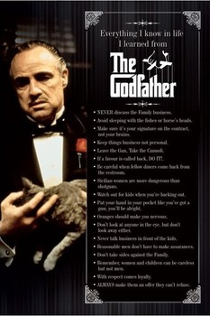 Juliste  THE GODFATHER - everything i know