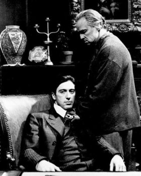 Juliste  THE GODFATHER - KUMMISETÄ - Marlon Brando & Al Pacino