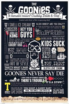 Juliste The Goonies - Typographic