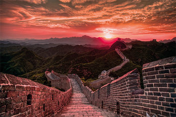 Juliste  The Great Wall Of China - Sunset