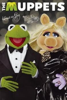 Juliste  THE MUPPETS - kermit&piggy