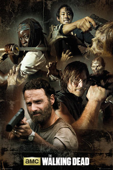 Juliste The Walking Dead - Collage