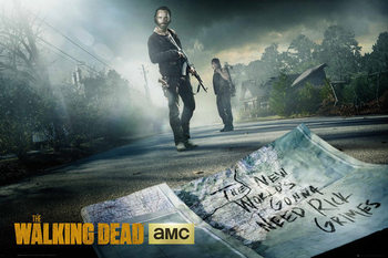 Juliste The Walking Dead - Rick And Daryl Road