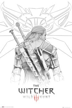 Juliste The Witcher - Geralt Sketch