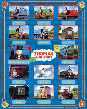 Juliste THOMAS AND FRIENDS - characters