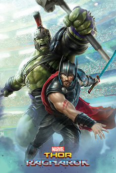 Juliste Thor: Ragnarok - Thor And Hulk