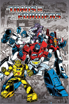 Juliste Transformers G1 - Retro Comics