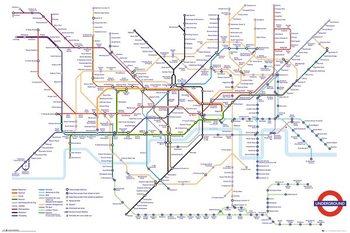 Juliste Transport For London - Underground Map