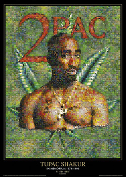 Juliste Tupac - photomosaic dope